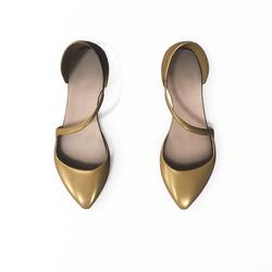 AV 2.0   Flat formal shoes - golden
