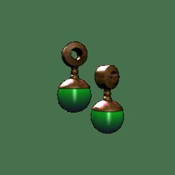 Male Green Glowing Earrings