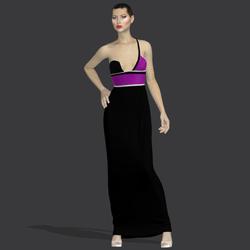 "Gilda black purple ""Elisea Carter"""