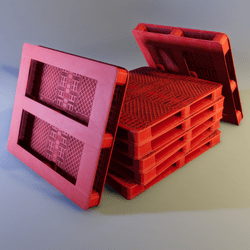 Red Plastic Pallet