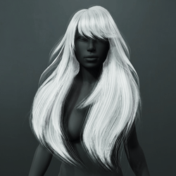 Amber Hair - White