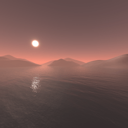 Mars The Red Planet Skybox