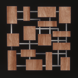 Wall Art  Cubes Wood and Metal