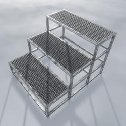 Metal Stairs  3 Step 1.0