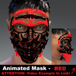 Animated Mask: Red - Male Avatars