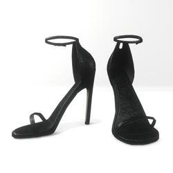 ankle strap sandals for Nicci- glitter  black