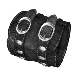 Black Leather Bracelet Female-Right