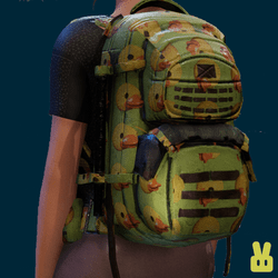 duck backpack - green