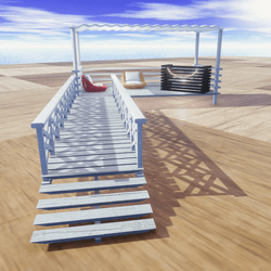 FURNISHED DOCKS FOR SNOW/WATER-WHITE SHADES