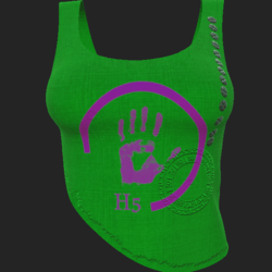 H5 shirt green violet