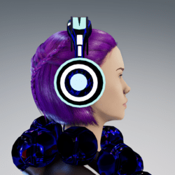 Neon Headphones (blue)