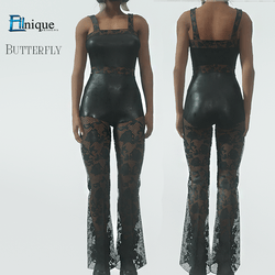 Butterfly Lace Black Jumpsuit