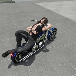 Lay on bike emote