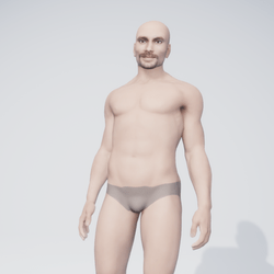 Henri - male caucasian avatar with costum texture