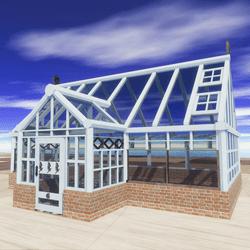GREENHOUSE/VILLAGE CABIN CLASSIC DESIGN(Victorian inspiration design)
