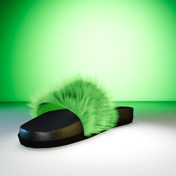 PurrS Green sliders shoes female