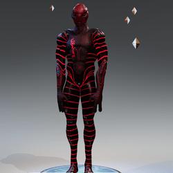 Red Alien Avatar