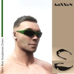 Mark Blue Sunglasses Green