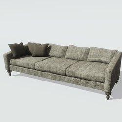 Brown Tweed Sofa