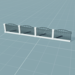 Metal/Marble Fence (Style2)