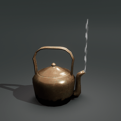 Copper Kettle with Smoke