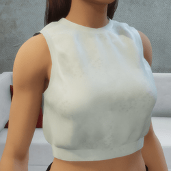 Sports Cropped Top Pearl