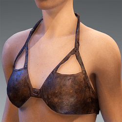 Top Bustier Leather Brown