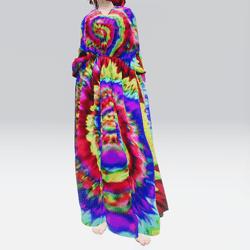 Poncho Dress Tie Dye (TM)