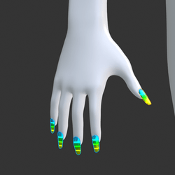 Multi-Colour Gradient Glow-In-The-Dark [Emissive Style 02] False Fake Nails Long