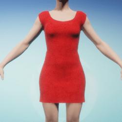 Red Stars Pattern Women's Dress
