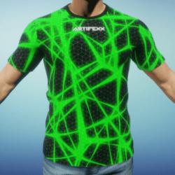 Male Tshirt Green-Poison