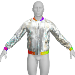 Male Jacket with Glow and Animation