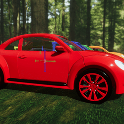 Red Punchbuggy Car