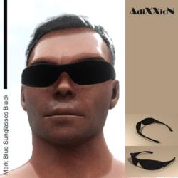 Mark Blue Sunglasses Black