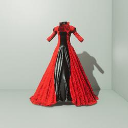 Queen Gown Red/Black