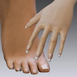 Finger nails and toe nails for Alina-Daisy High Heels