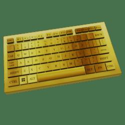PC KEYBOARD GOLD