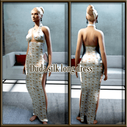 duda silk long dres