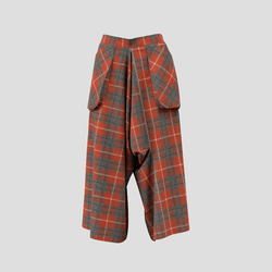 Trailblazing Pants orange and gray checked