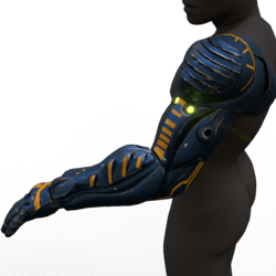 Cyborg arm (left,blue)