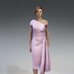 AV 2.0  Vintage elegant dress - pink