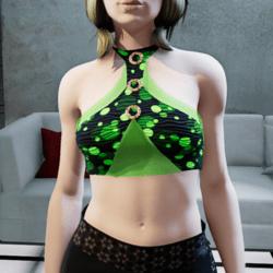 Brisa top black green