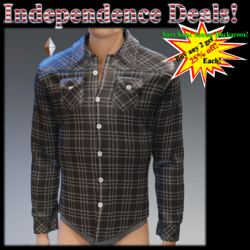 Black Plaid Long Sleeves Shirt - Male