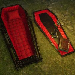 Halloween Bundle - Coffin, Coffin Lid, Candelabra, Book