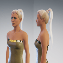 ponitale blond