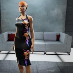 Black tube pin up dress