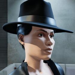 Secret Agent MIB Spy Black Hat (Female)