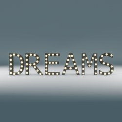 Dreams Marquee Blinking Sign