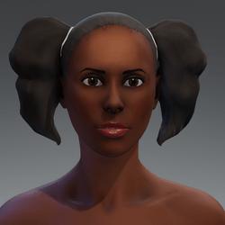 Afro Puff Hair 7a