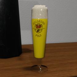 Glas full of Pils beer